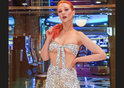 Model Victoria Clay drops jaws in eye-boggling outfit made ENTIRELY of dollar bills