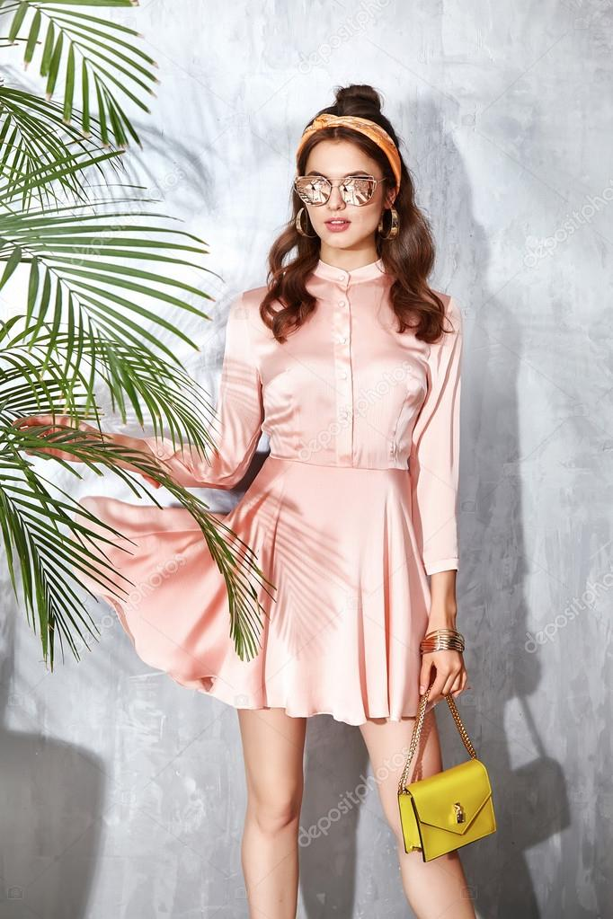 Satin button up dress